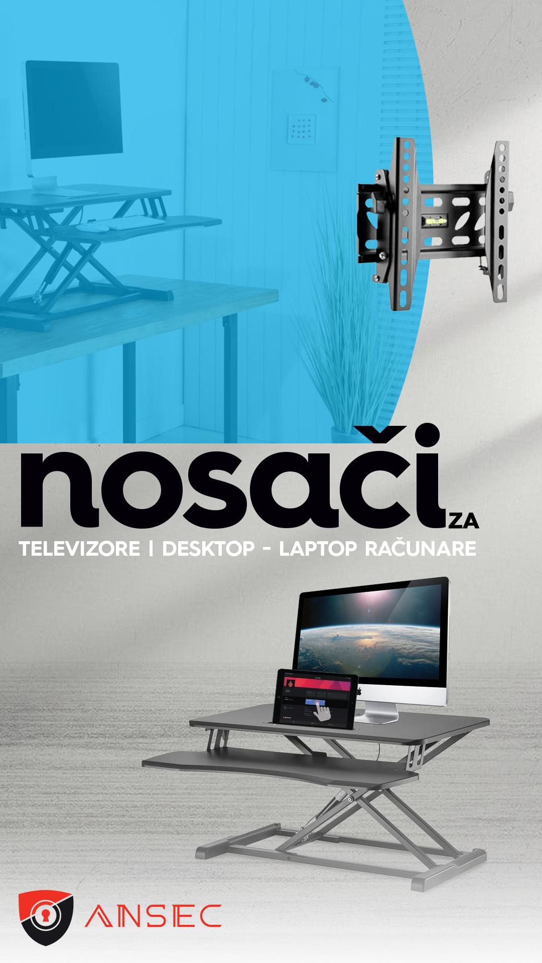 TV nosaci i nosaci za laptop